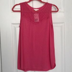 Lace onset muscle tee